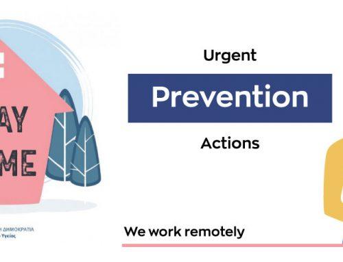 Urgent Prevention Actions due to Coronavirus emergency